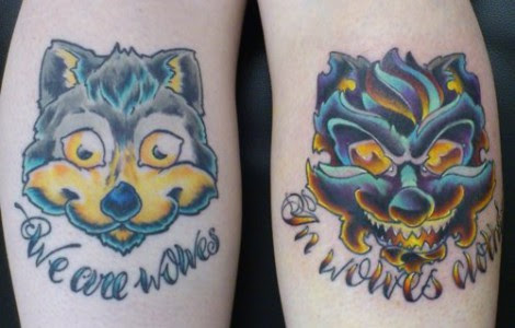 Good And Bad Wolf Tattoo Tattoos Designs Ideas