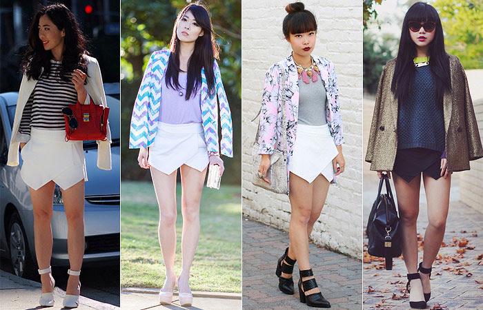 Resultado de imagem para como usar short saia estampado
