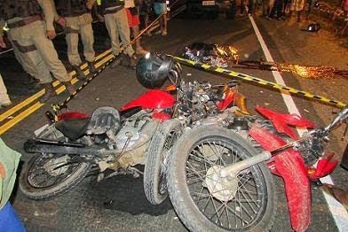 Acidentes com motos são frequentes