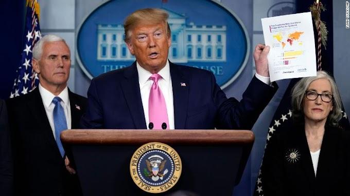 Donald Trump Klaim Ancaman Virus Corona di AS Minim