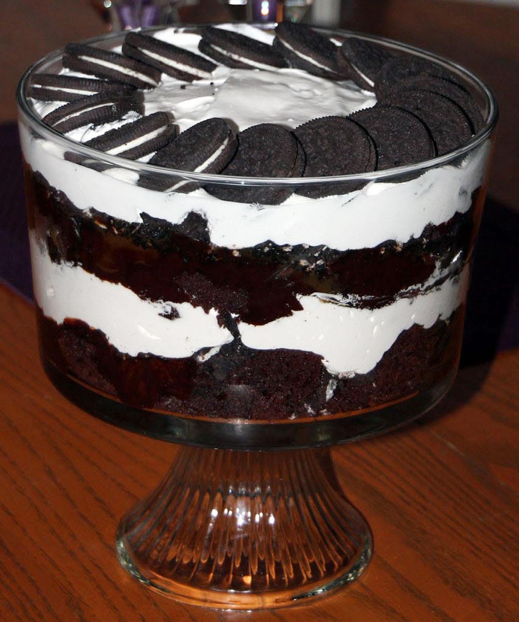 Chocolate Christmas Dessert With Oreo Chocolate Cake ...