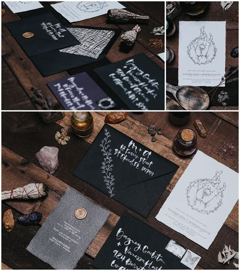 Witchy Halloween Wedding Inspiration (Binding Ceremony)