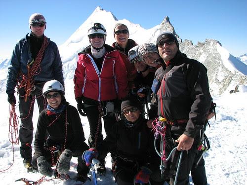 Foto di gruppo sulla vetta