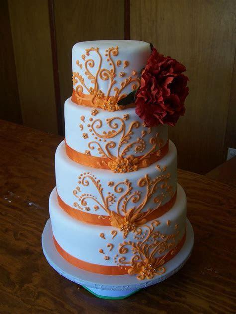 Southern Blue Celebrations: Orange Wedding Cake Ideas