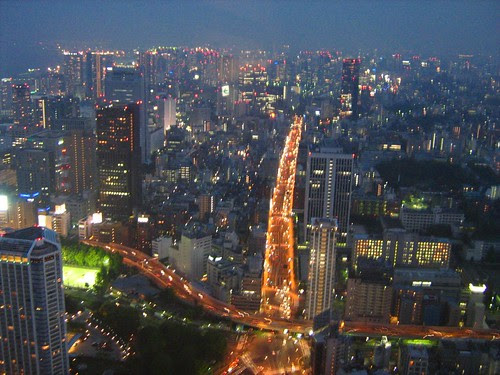 Night View From The Top Of Tokyo Tower