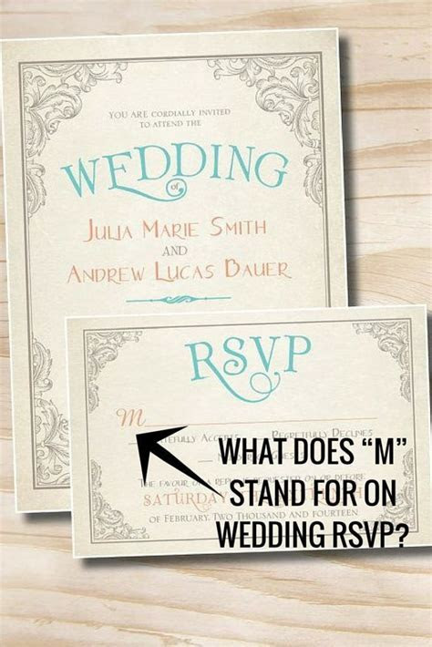 "What Does ""M"" Stand for on Wedding RSVP?"