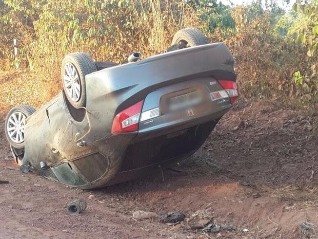 Colisão aconteceu em uma estrada rural de Rolim (Foto: Alerta Rolim/ Reprodução)