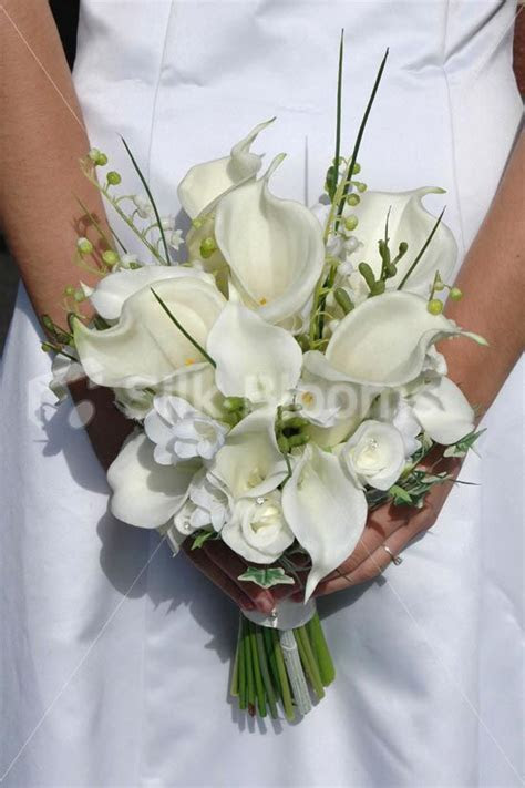Elegant Ivory Calla Lily Rose & Freesia Bridal Wedding