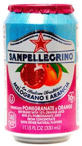 San Pellegrino Melograno E Arancia (Pomegranate & Orange) 11.15 Fl Oz 6 Pack