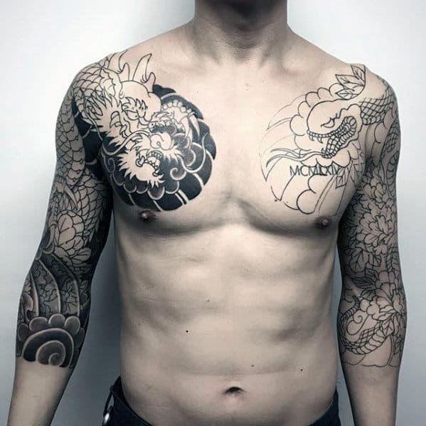 60 Japanese Half Sleeve Tattoos For Men Manly Design Ideas