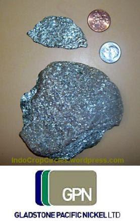 silver nickel-rock