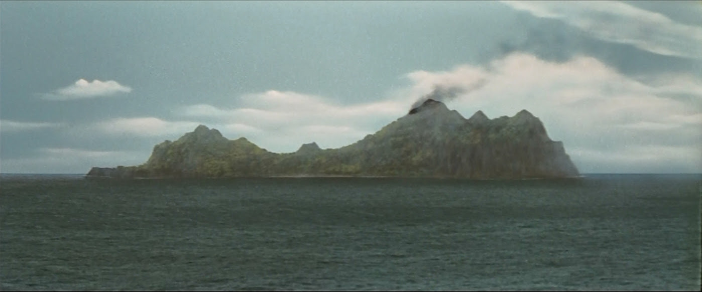A volcanic island. Wonder what it's going to do...
