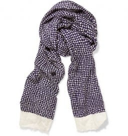 Paul Smith Shoes & Accessories Geometric Cotton And Silk Scarf