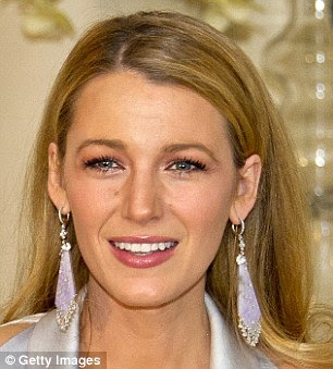 Long & dangly: Blake Lively, 28, chose a dramatic pair of lavender drop earrings recently