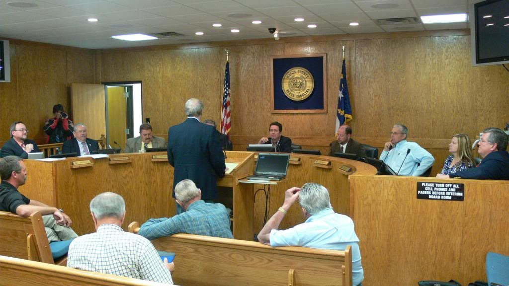 Miles Gregory Addresses the Board County Commissioners
