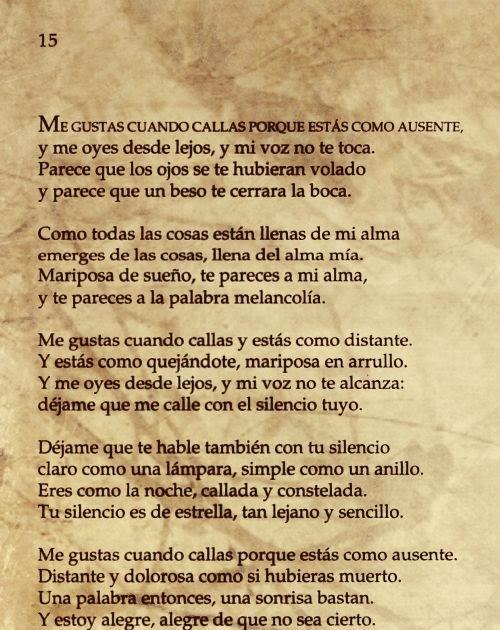 Poema 15 Pablo Neruda Frases T