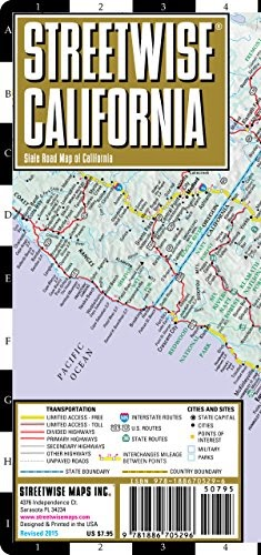 READ ON ANYTIME: Streetwise California Map - Laminated ...