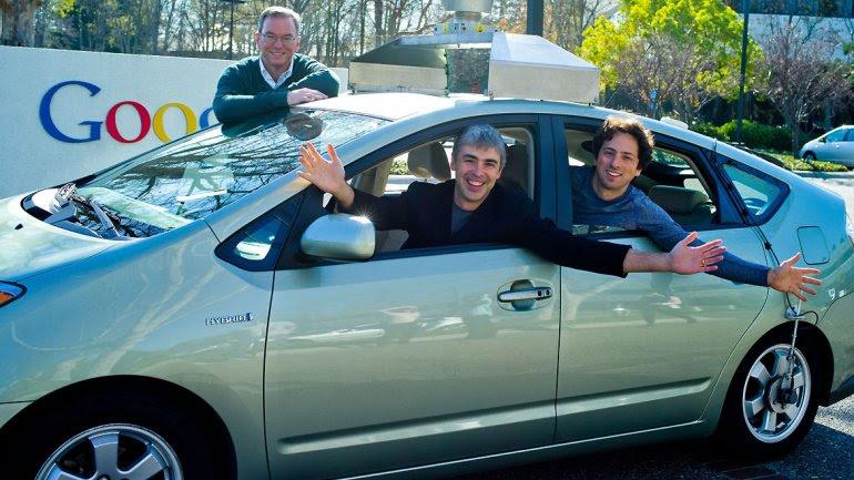 Eric Schmidt, Larry Page y Sergey Brin