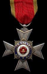 Honor de la Cruz cuarta clase 1 ª División, Anverso