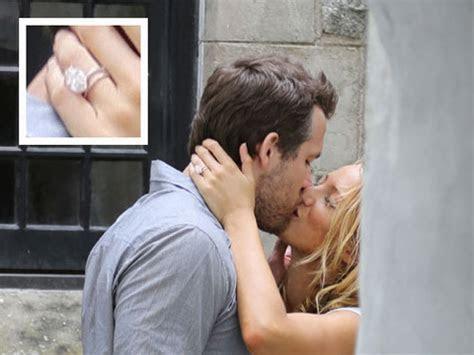 Blake Lively Kisses Ryan Reynolds, Flashes Engagement Ring