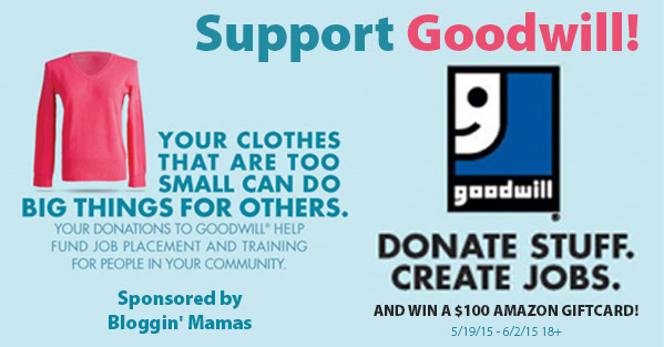 Enter the Goodwill Giveaway to win a $100 Amazon Gift Card. Ends 6/2.