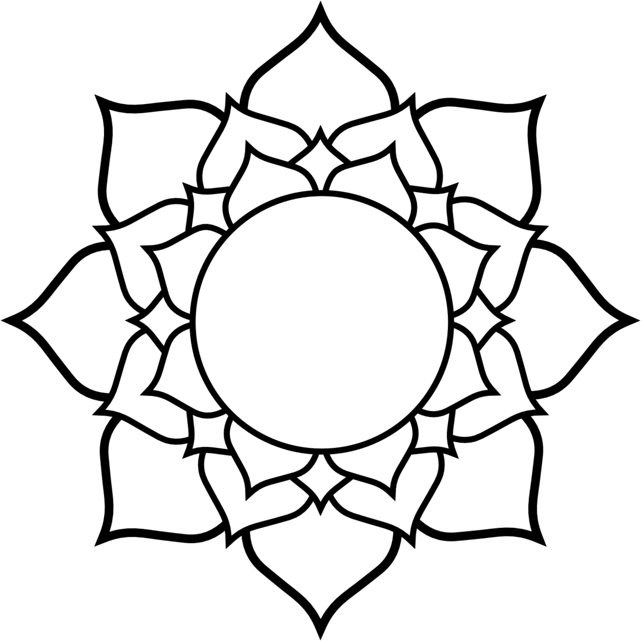 Drawing Skill Lotus Flower Drawings Easy