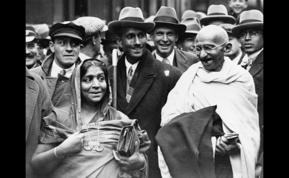 <p> Accompanied by Mrs Sarojini Naidu, Mahatma Gandhi is pictured at Boulogne station, on the way to England to attend the Round Table Conference as the representative of Indian citizens. Getty Images</p>