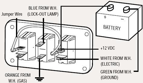 hot water heater switch