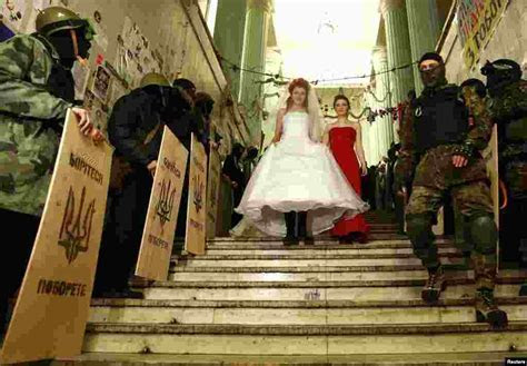 In Ukraine, Wedding Bells Ring On Both Sides Amid The Crisis