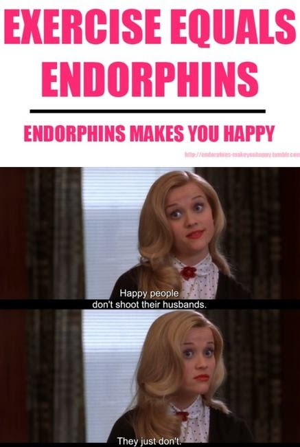 Endorphins make you happy Happy people don\u002639;t shoot their