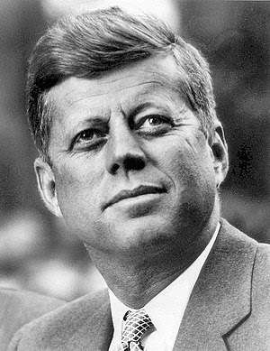 Photo portrait of John F. Kennedy, President o...