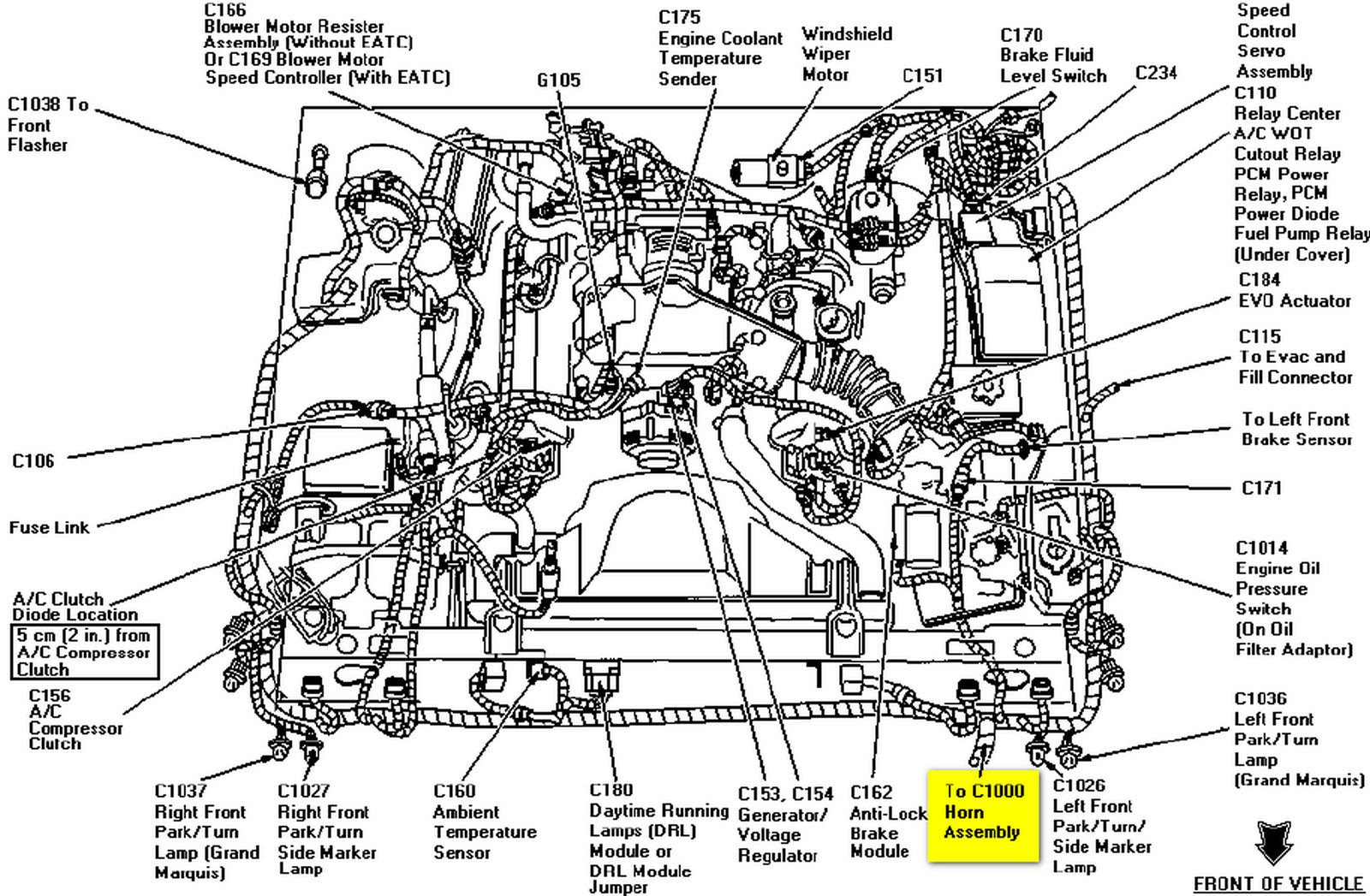 Crown Victoria Vacuum Hose Diagram