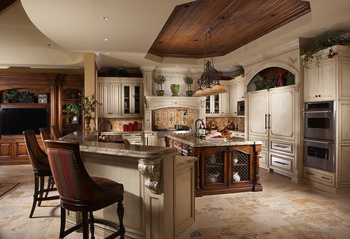 Aqualane Shores Custom Residence mediterranean kitchen