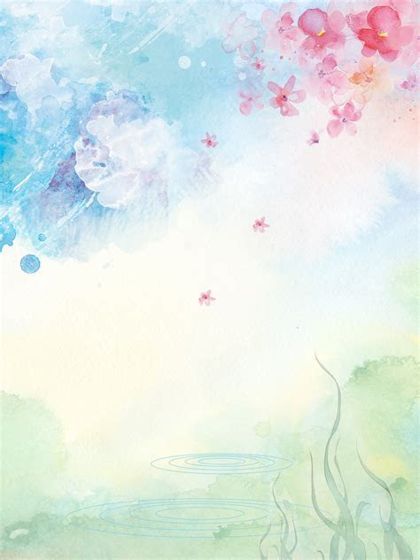 Fresh And Beautiful Watercolor Flowers, Skin Care Products
