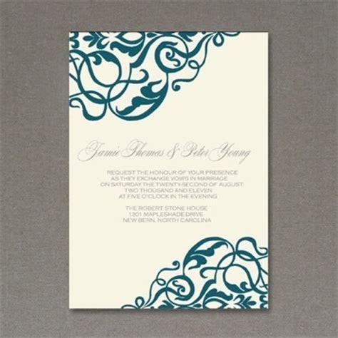 Invitation Template: Corner Scroll Design   Download & Print