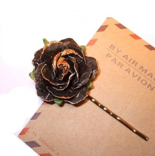 Hair Jewelry - Paper Flower Hair Pin -  Hair accent (E). Starting at $2 on Tophatter.com!