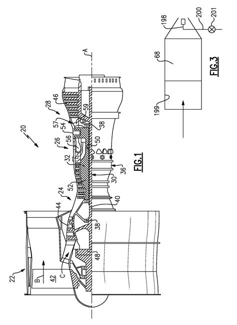 Patent US8261527 - Gas turbine engine with geared turbofan