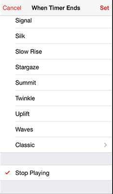 Set Sleep Timer for Music on iPhone