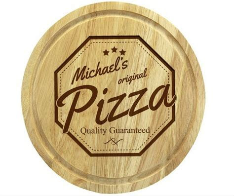 Personalised Wooden Pizza Board   Love My Gifts