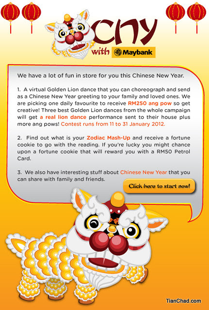 Maybank FC CNY Greeting E-Card | TianChad.com