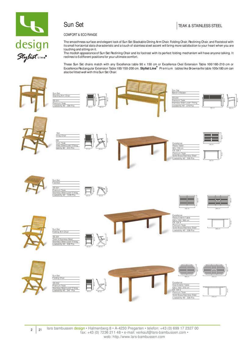 teakholz möbel katalog von lars bambussen design