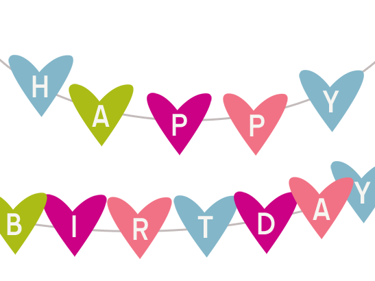 HAPPY BIRTHDAY Bunting Banner, Printable Decoration, Black and ...