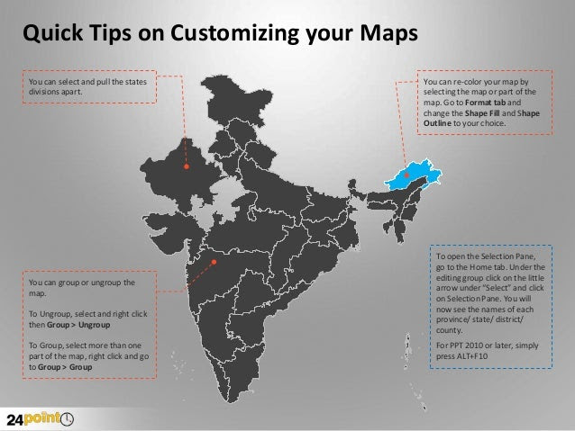 Download our Editable PPT Map Templates - 24point0