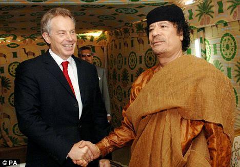 Tony Blair and Gaddafi