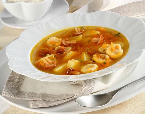 Суп с острыми галушками