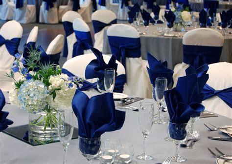 Royal Blue & Gray Wedding, ballroom at Oak Ridge Decor by