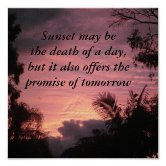 Sunset Motivational Poster print