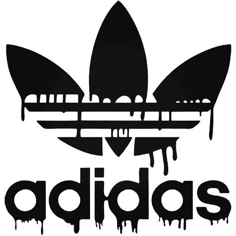 adidas dripping blood logo sticker ballzbeatz