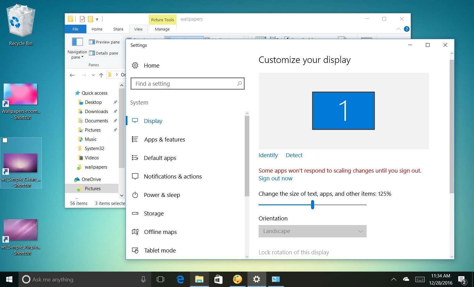 How to change display settings to make icons and text bigger on Windows 10 • PUREinfoTech
