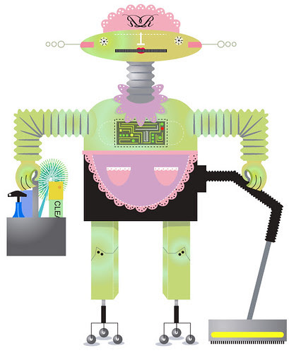 Illustration Friday - Rosie Robot